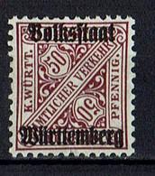Mi. 269 X * - Wurttemberg