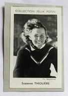 Image Carte Photo Skieuse Suzanne THIOLLIERE écrit Thiolière Collection Félix Potin Célébrités Contemporaines 1952 - Winter Sports