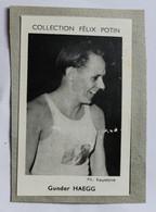 Image Carte Photo Athlétisme Coureur Suéde GUNDER HAGG écrit Haegg Collection Félix Potin Célébrités Contemporaines 1952 - Athletics