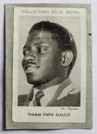 Image Carte Photo Athlétisme Saut En Hauteur Papa Gallo Thiam Collection Félix Potin Célébrités Contemporaines 1952 - Athletics
