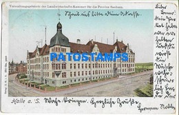 161463 GERMANY HALLE A. S ADMINISTRATIVE BUILDING OF THE CHAMBER OF AGRICULTURE BREAK POSTAL POSTCARD - Unclassified