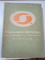 ALGERIE-ANNUAIRE OFFICIEL DES ABONNES DU TELEPHONE EN LANGUE ARABE -WILAYA D'ALGER-1977 - Practical