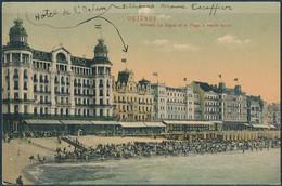 Ostend, Kursaal, La Digue Et La Plage à Marée Haute - Posted 1909 - Oostende