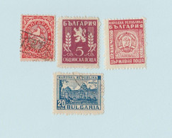 Bulgarie - Lot 4 Timbres - YT 181 (1925) - YT BGS15a - YT BG S18 (1950) - YT 593A (1948) - Collezioni & Lotti