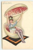 N°17758 - Mauzan N°86-2 - Jeune Femme Assisse Dans Une Boite En Forme D'oeuf - Mauzan, L.A.