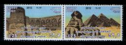 EGYPT / 2012 / AZERBAIJAN / 20TH ANNIV. OF DIPLOMATIC RELATIONS / ARCHAEOLOGY / MNH / VF . - Nuovi