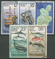 Neuseeland 1978 Nutzung Des Meeres Fischfang Wale Erdgas 746/50 Gestempelt - Gebraucht