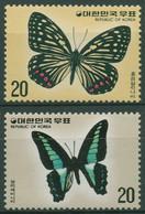 Korea (Süd) 1976 Tiere Insekten Schmetterlinge 1055/56 Postfrisch - Korea, South