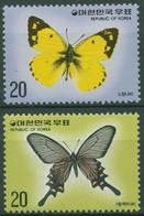 Korea (Süd) 1976 Tiere Insekten Schmetterlinge 1047/48 Postfrisch - Korea, South