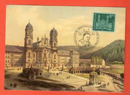 ZON-04 Maximum-Karte Besuch Vom Papst Johannes Paul II. In 1984 - SZ Schwyz