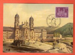 ZON-05 Maximum-Karte Besuch Vom Papst Johannes Paul II. In 1984 - SZ Schwyz