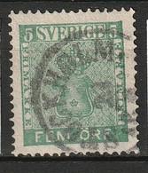 Suede, Sweden 1858 - 5 öre - Yvert 6, Mi# 7  Used - Gebraucht