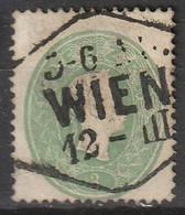 """Österreich, Austria  1860 MiNr. 19 Gestempelt """"WIEN"""" - Used Stamps"""