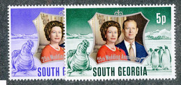 BC 7633 *Offers Welcome* 1972 Sc.35-36 Mnh** - South Georgia