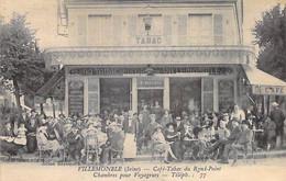 93 - VILLEMOMBLE : CAFE TABAC Du ROND POINT - Beau Plan Animé - Jolie CPA Postée 1923 - Seine Saint Denis - Villemomble