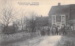 52 - SAINT VALLIER ( Environs De LANGRES ) CAFE SIMONEL Un Coin Du Village - CPA Village ( 175 Habitants) - Haute Marne - Other Municipalities