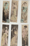 Reutlinger 6 Cartes Format Réduit Artiste-femmes (Ritter, Navita, Pierat, Cavaliéri, Juniore, Loty) - Femmes Célèbres