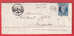 N°14 PC 693 CHAGNY SAONE ET LOIRE OR SANTENAY COTE D'OR POUR BEAUNE - 1849-1876: Klassik