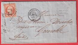 N°23 GC 312 BARCELONETTE BASSES ALPES POUR GRENOBLE ISERE - 1849-1876: Klassik