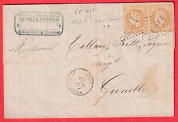 N°28 PAIRE GC 1755 HALLECOURT SOMME POUR GRENOBLE ISERE - 1849-1876: Klassik