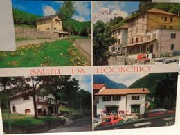 Cartolina Saluti Da Ligonchio Frazione Ventasso Prov Reggio Emilia, Rifugio Passo Pradarena, Albergo De Lago,il Garbugli - Reggio Emilia