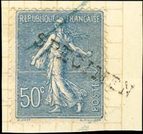 """FRANCE - 1921 Yv.161 50c Semeuse Surchargée """"SPECIMEN"""" De La Collection UPU Du BECHUANALAND BRITANNIQUE - 1903-60 Semeuse Lignée"""
