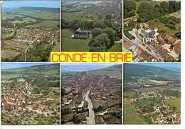 02330 CONDÉ-EN-BRIE - Divers Aspects De La Ville, Du Château Et De Connigis - Andere Gemeenten