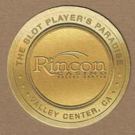 Rincon Casino  - Valley Center, CA - Samuel Adams Paper Coaster - 3.5 Inches Diameter - Sotto-boccale