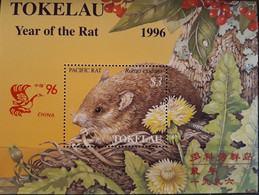 TOKELAU 1996 ANNEE LUNAIRE DU RAT BLOC/CHINA96 NEUF** - LUNAR YEAR OF THE RAT BLOCK MNH - - Tokelau