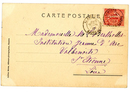 HAUTE SAVOIE CP 1904 SAMOENS TYPE 18 TARDIF SUR 10C SEMEUSE LIGNEE - 1877-1920: Semi Modern Period