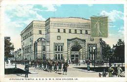 "CPA USA ""Nouvelle Orléans, Jerusalem Temple, Synagogue"" / JUDAICA - New Orleans"