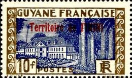 Inini Poste N** Yv:27 Mi:20 Hôtel Du Gouvernement Cayenne Pli Dans La Gomme - Unused Stamps
