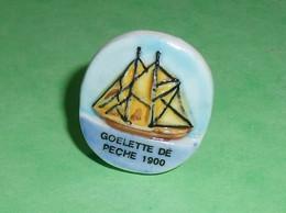 Fèves / Fève / Sports : Goelette De Pêche 1900 , Bateau , Voilier , Dos Plat   T16 - Sport