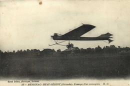 MERIGNAC BEAU DESERT (Gironde )Passage D'un Monoplan RV - Fliegertreffen