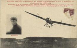 GRANDE SEMAINE D'AVIATION DE BORDEAUX MERIGNAC Du 9 Au 18 Sept 1910 MONOPLAN ANTOINETTE RV - Fliegertreffen