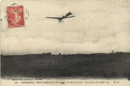 MERIGNAC BEAU DESERT (Gironde) A L'Aérodrome Monoplan En Plein Vol  RV - Fliegertreffen