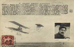 GRANDE SEMAINE D'AVIATION RIGAL Sur Nouveau Biplan Voisin Frères - Fliegertreffen