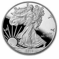 Pièce LIBERTY EAGLES ONE DOLLAR 2019 1 Oz 29 G Argent Fine Silver Neuve - Altri