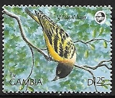 Gambia - MNH ** 1990 : Village Weaver  -  Ploceus Cucullatus - Sperlingsvögel & Singvögel