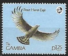 Gambia - MNH ** 1990 : Brown Snake Eagle  -  Circaetus Cinereus - Adler & Greifvögel