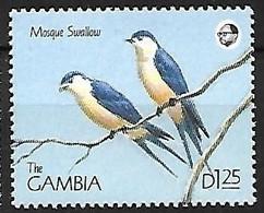Gambia - MNH ** 1990 :  Mosque Swallow    Cecropis Senegalensis - Schwalben