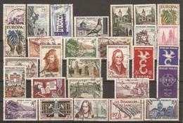 France 1951/59 - Petit Lot De 66 Timbres° - Grands Formats - Europa - Tourisme - Célébrités - Sports - Kilowaar (max. 999 Zegels)