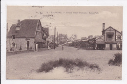 CP BELGIQUE LA PANNE Avenue Albert Dumont Luna Park - De Panne