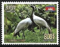 Cambodia - MNH ** 2020 :    Demoiselle Crane   - Grus Virgo - Kranichvögel