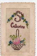 Carte Brodée Ste Catherine - Bestickt