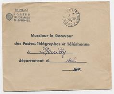 LETTRE FRANCHISE PTT TIMBRE A DATE DIRECTION AMBts 5.10.1964 NORD - Railway Post