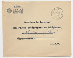 LETTRE FRANCHISE PTT TIMBRE A DATE BUREAUX AMBULANTS EST 2.5.1960 - Spoorwegpost