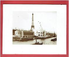 PHOTO SUR PORCELAINE 1900 PARIS EXPOSITION UNIVERSELLE QUAI D ORSAY PALAIS DU MEXIQUE PALAIS DES ARMEES TOUR EIFFEL - Old (before 1900)