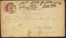 1867 WÜRZBURG Bfh. 3 Krezer Baden N.Neustadt - Briefe U. Dokumente