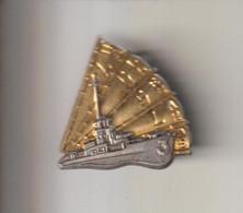 INSIGNE  MARINE  INDOCHINE  :  L.S.S.L   HALLEBARDE   --- D.O.M - Marine